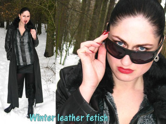 winter leather fetish